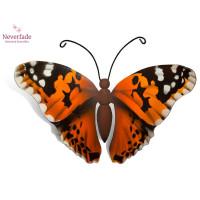 Houten mini-urn vlinder op granieten blokje, Distelvlinder
