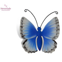 Houten mini-urn vlinder op granieten blokje, Icarus Blauwtje