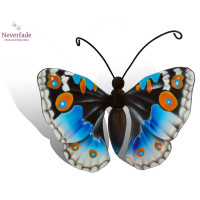 Houten mini-urn vlinder op granieten blokje, Junonia Oenone