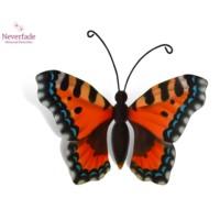 Houten mini-urn vlinder op granieten blokje, Kleine Vos