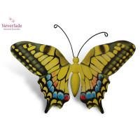 Houten mini-urn vlinder op granieten blokje, Koninginnepage