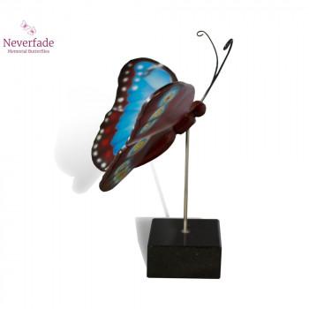 vlinder-mini-urn-morpho-blauw-rood-zijkant-met-blokje_nf-4053_memento-aan-jou