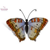 Houten mini-urn vlinder op granieten blokje, White Peacock