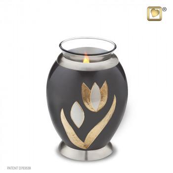 waxinelicht-antraciet-urn-gravering-tulp-effect-goud-kleurig-parel-tulip_lu-t-502