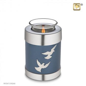 waxinelicht-azuur-blauw-kleurige-urn-zilverkleurige-vogel-duiven-effect-tealight-flying-doves_lu-t-572