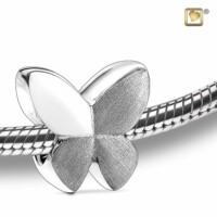 Butterfly® bedel met asruimte, zilver glans-mat