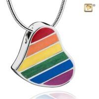 """""""Pride®"""" Rainbow collier met asruimte"""