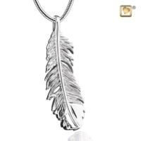 """Feather®"" collier met asruimte"
