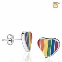 Leaning Heart Rainbow® oorknoppen