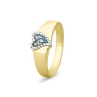 Ring met hart voorzien van open ruimte, zirkonia/diamant-RG005