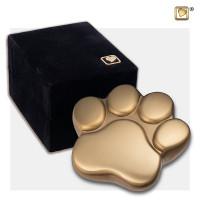 """Mini poot urn, """"LovePaw"""" kleur; goudkleurig"""