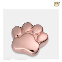 """Mini poot urn, """"LovePaw"""" kleur; rosegoud"""