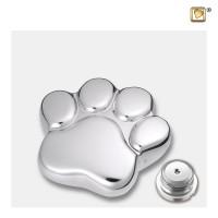 "Mini poot urn, ""LovePaw"" kleur; zilverkleur"