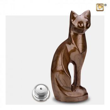 urn-kat-zittend-modern-bruin-parel-effect-cat-bronze-sluitschroef_lu-p-262