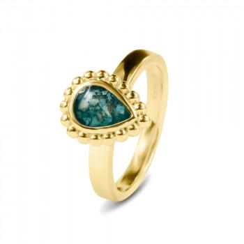 geelgouden-ring-bolletjesrand-druppelvorm-open-ruimte_sy-rg-020-y_sy-memorial-jewelry_memento-aan-jou