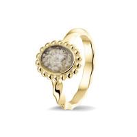 Smalle ring, gedraaid, ovale open ruimte bollenrand-RG032