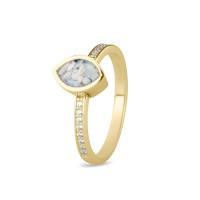 Smalle ring met zirkonia, marquise open ruimte-RG016
