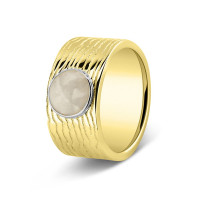 Ring, 10mm, ronde open ruimte lang lijneffect-226SY