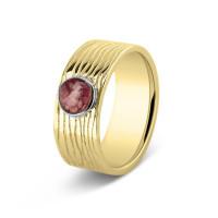 Ring, 8mm, ronde open ruimte lang lijneffect-225SY