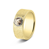 Ring, 8mm, ronde open ruimte kort lijneffect-222SY