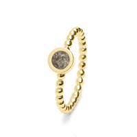 Ring met rondje voorzien van open ruimte-RG002-012