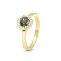 Smalle ring, strak glad, bovenop een ronde open ruimte-RG010