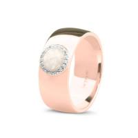 Brede ring, strak glad met ronde open ruimte-RG008
