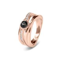 Brede ring, fantasievorm met ronde open ruimte-RG007