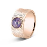 Ring, 10mm, ronde open ruimte kort lijneffect-223SY