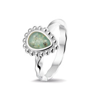 Smalle ring, gedraaid, druppel open ruimte bollenrand-RG031