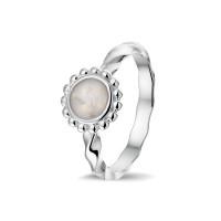Smalle ring, gedraaid, ronde open ruimte bollenrand-RG030