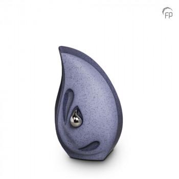 keramische-druppel-urn-klein-zilverkleurige-minidruppel-rechtop-grijs-blauw-mastaba_ku-043-s_fp-funeral-products_memento-aan-jou