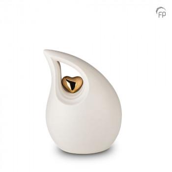 keramische-druppel-urn-middel-wit-goudkleurig-hart-mastaba_ku-048-m_fp-funeral-products_memento-aan-jou