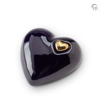 Hart urn glanzend zwart, 3 maten-KU054