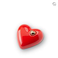 Hart urn glanzend rood, 3 maten-KU055