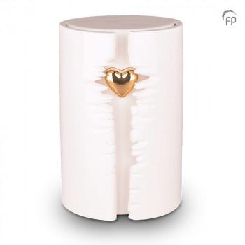 keramische-urn-groot-wit-glanzend-ovaal-hoog-goudkleurig-hart-led-licht-mastaba_ku-101l_fp-funeral-products_memento-aan-jou
