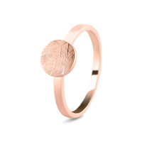 Ring, vingerafdruk of initiaal op disc, ronde vorm-456