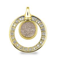 Ashanger, 22mm, rond glas ring met accenten-108