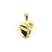 Mini hart-hanger met accent, RL-003