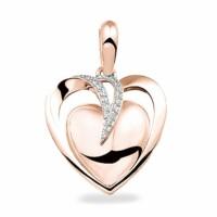 Ashanger,dubbel hart,20mm met accenten,harsverwerking-110
