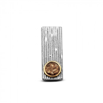 zilveren-hanger-geelgouden-rand-open-ruimte-verticaal-lijneffect_sy-227-sy