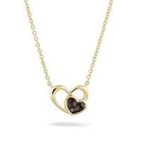Hanger, dubbel hart inclusief collier-602