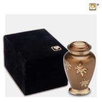 Mini-urn Classic® Falling Leaves, bruin