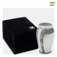 Mini-urn Majestic® Stripes met zwarte gravering
