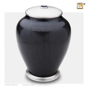 antraciet-kleurige-pareleffect-urn-zilverkleurige-sluitdeksel-swarovski-kristal-simplicity-midnight-pearl-groot_lu-a-523