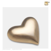 Hart-urn volle vorm, goudkleur mat/glans