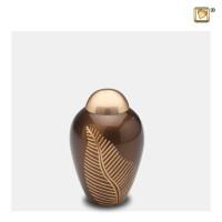 Mini-urnen Elegant Leaf® met blad gravering, 3 kleuren
