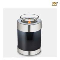 Waxinelichthouder met asruimte, antraciet, matte ring, 650