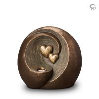 """Keramische duo-urn """"Eeuwige verbintenis"""" Geert Kunen"""