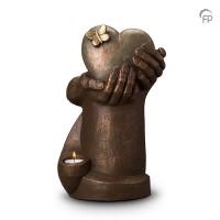 """Keramische urn """"Hartepijn"""" Geert Kunen"""